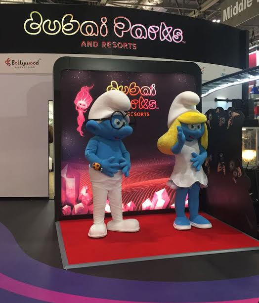 Smurf and Smurfette Dubai Parks and Resorts Rainbow Productions