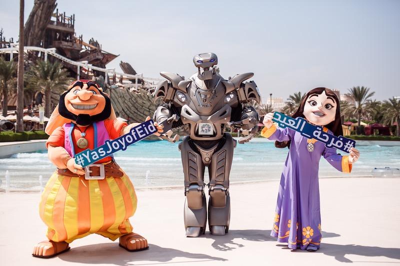 TITAN the Robot at Waterworld Yas Island Abu Dhabi
