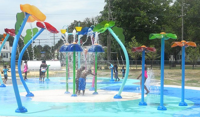 Vortex Splashpad At Norview Community Center Norfolk Va Blooloop