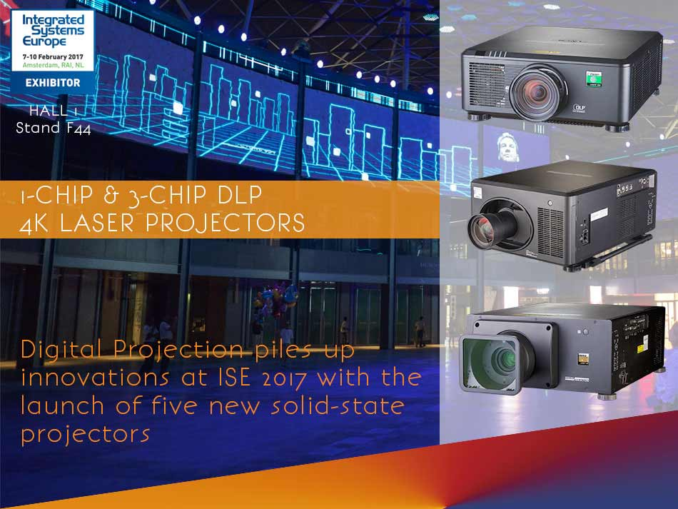 Digital Projection to Unveil Five New Solid-State Laser Projection Systems at ISE