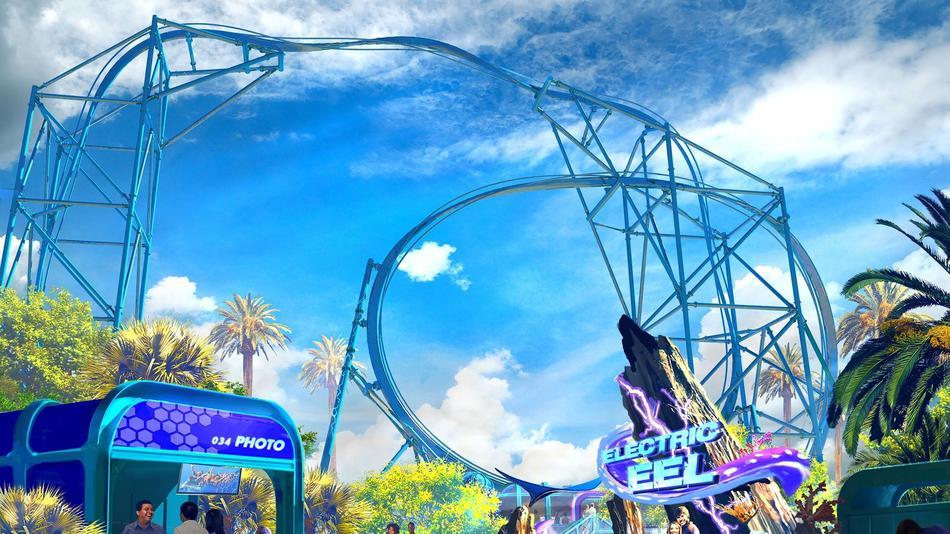 Electric Eel coaster SeaWorld