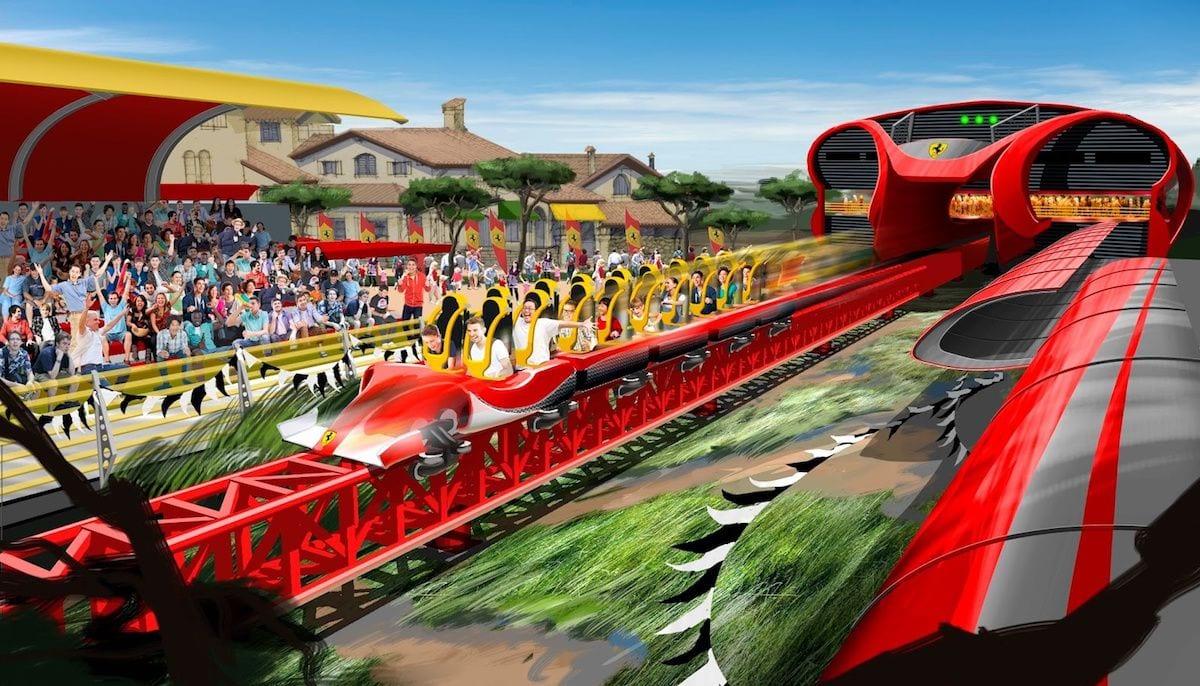 ferrari land roller coaster portaventura