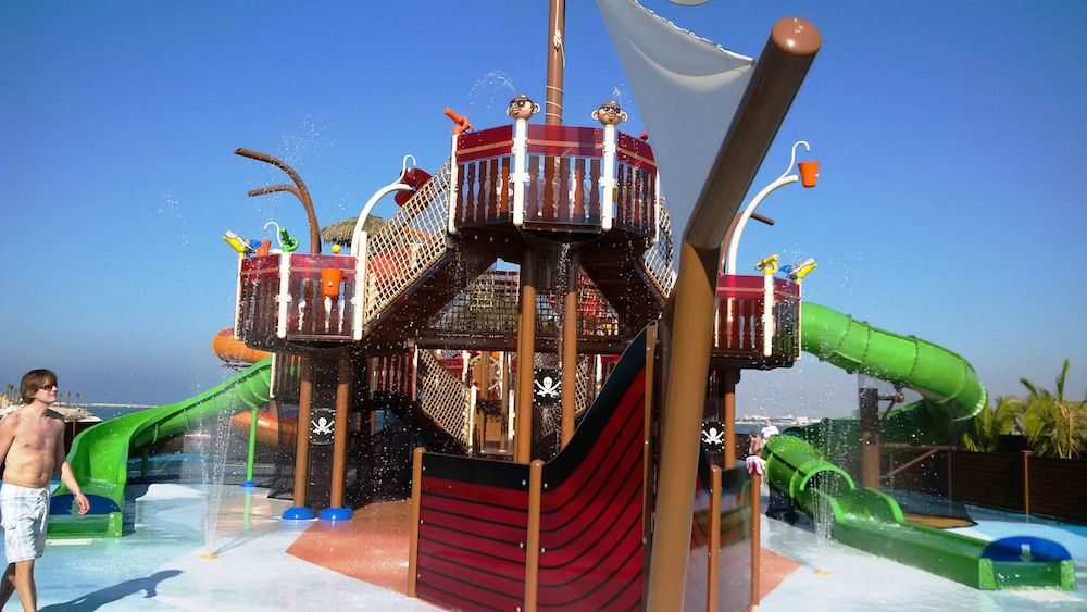 pirate boat aquatic play vortex DoubleTree by Hilton Resort & Spa Marjan Island