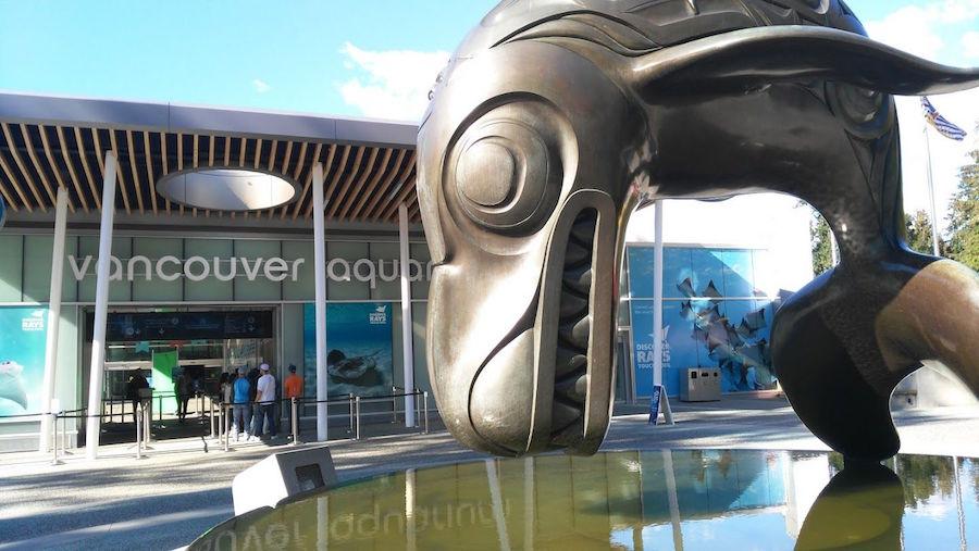 Vancouver aquarium entrance