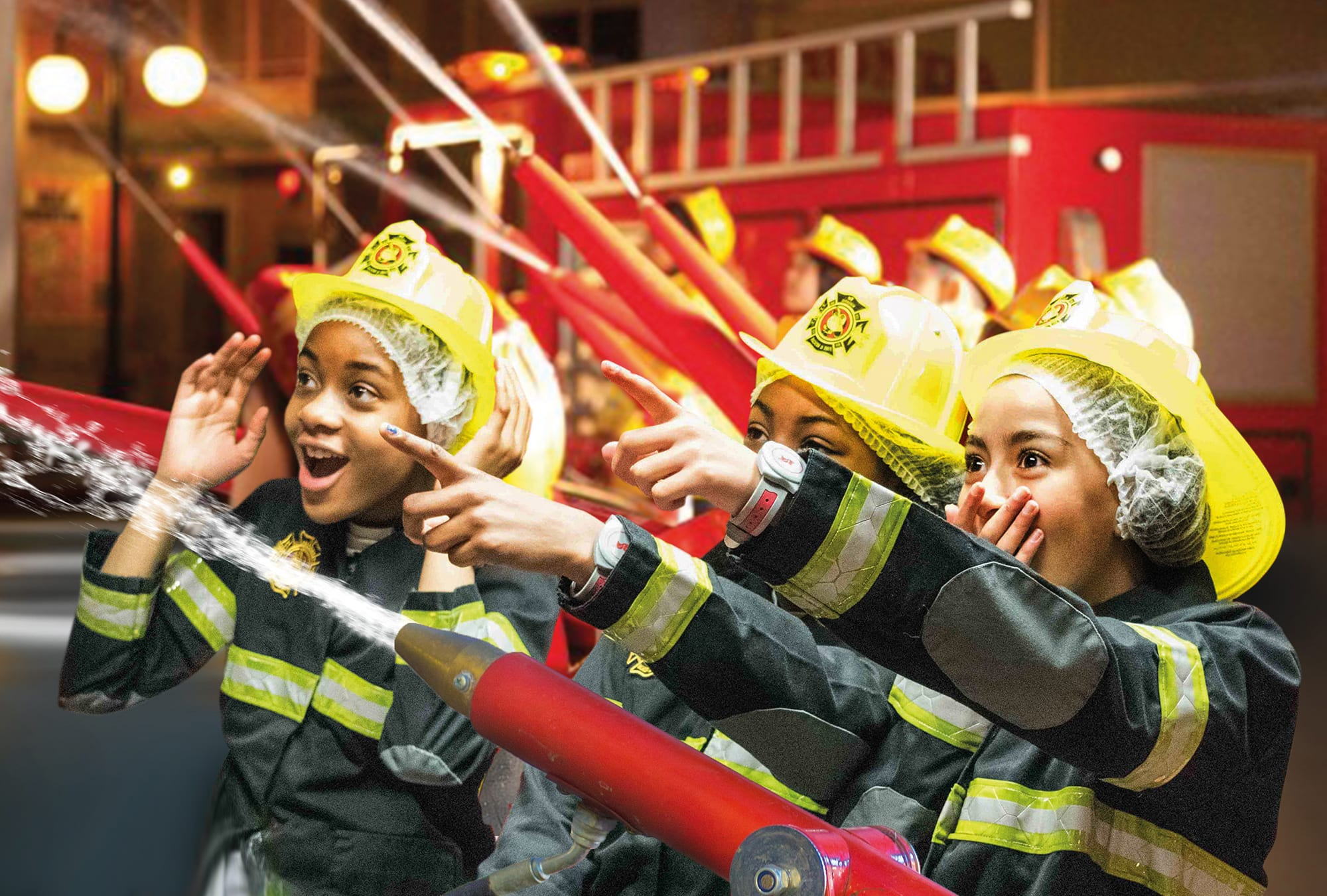 KidZania London fire