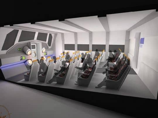 Mars transit vehicle Astronaut Training at KSC Visitor Complex