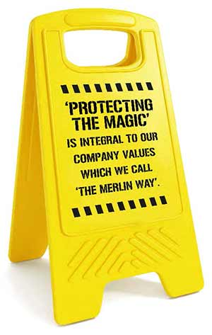 merlin entertainments HSS safety protecting the magic sign