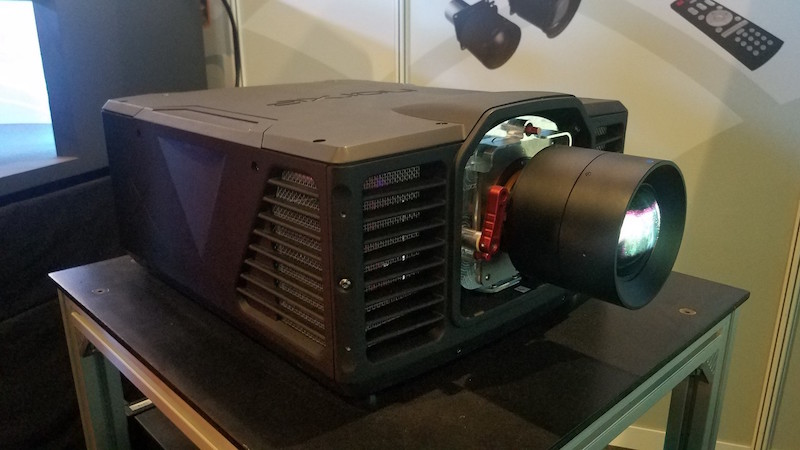 Norxe projector at ise 2017