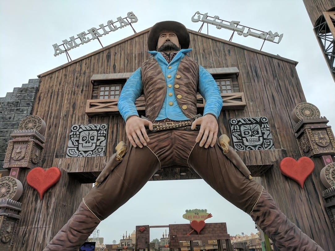 american cowboy at Global village Blooloop