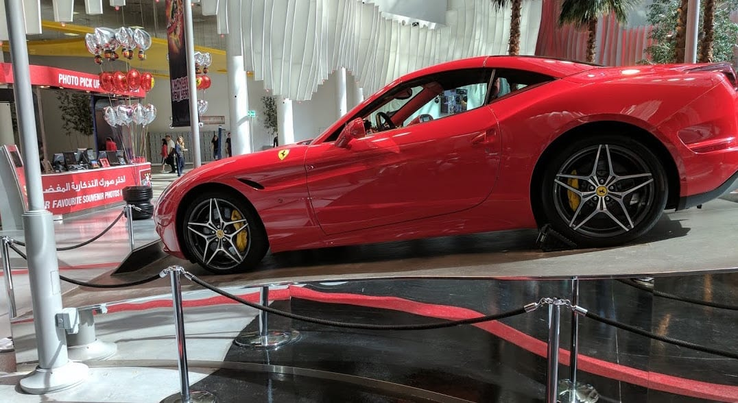 ferrari california at ferrari world abu dhabi Blooloop