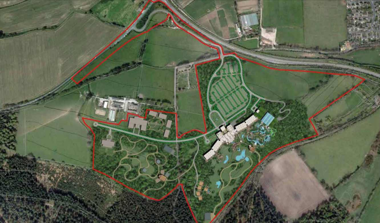 longleat planning waterpark aerial view