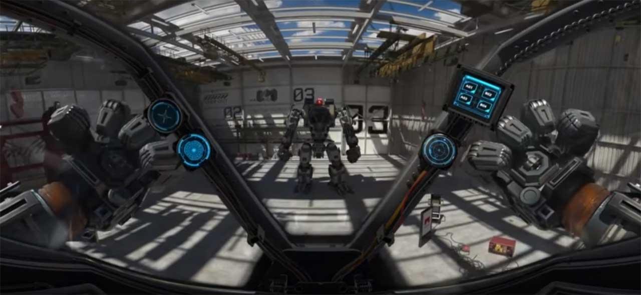 everladn robot VR virtual reality ride