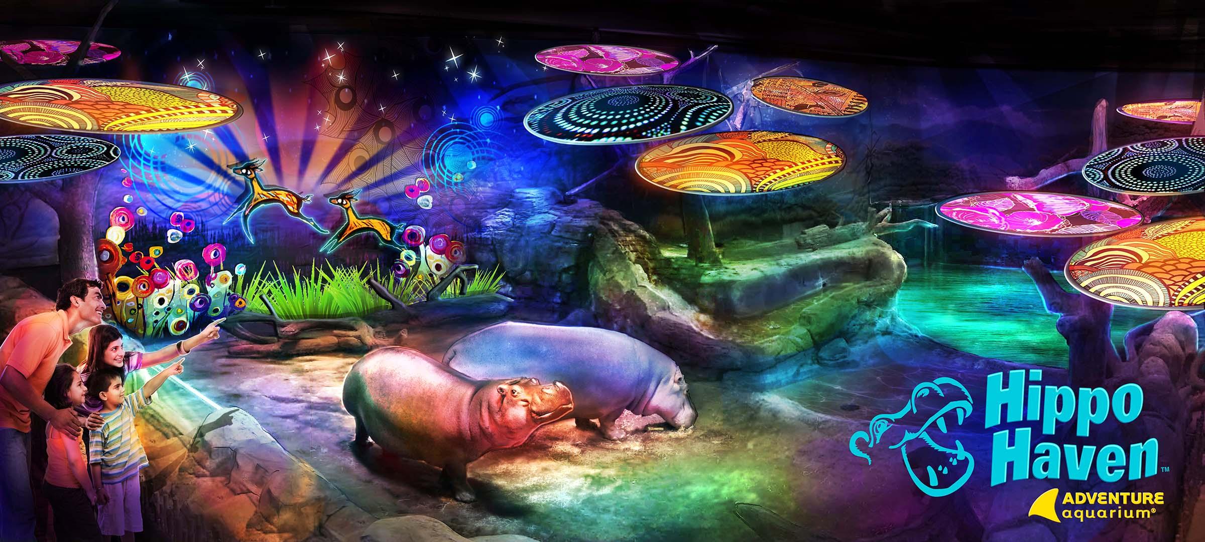 Hippo Haven at Adventure Aquarium Blooloop
