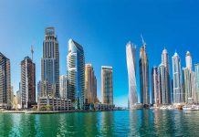 panorama of dubai marina UAE