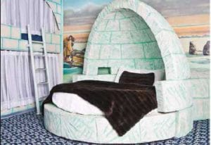 Triple Five Hotels: Eskimo themed rooms