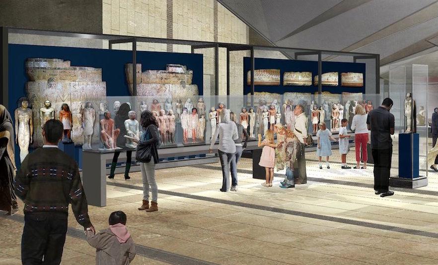 grand egyptian museum exhibits