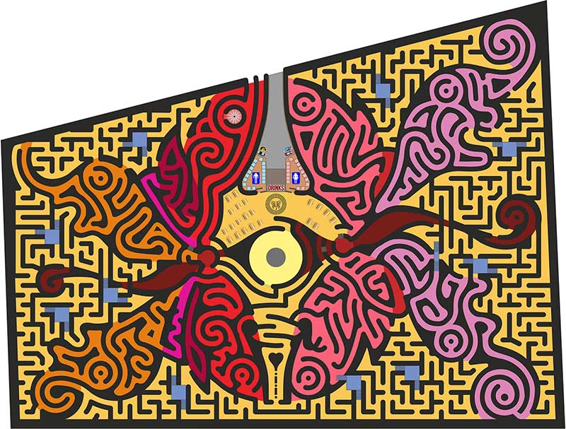 Adrian Fisher ningo world's biggest maze butterfly