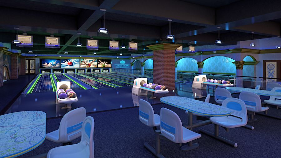 Bowling alley at amaazia theme prk and water park (1)