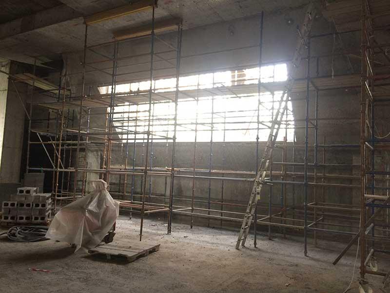 Exit Aquarium Cafe Construction TGI Oman