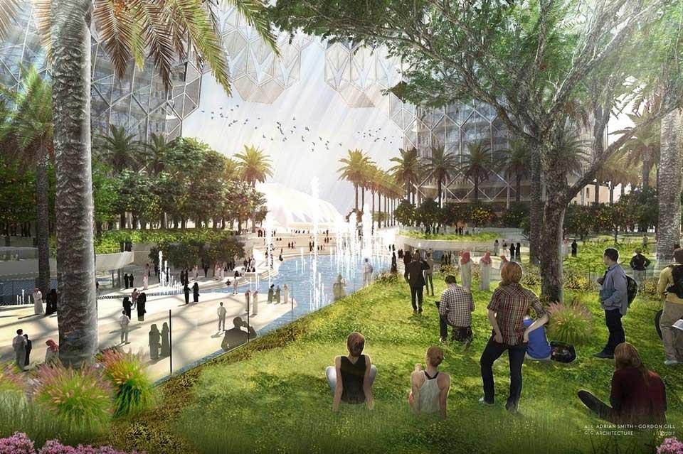 Dubai Expo 2020 dome Al Wasl Plaza
