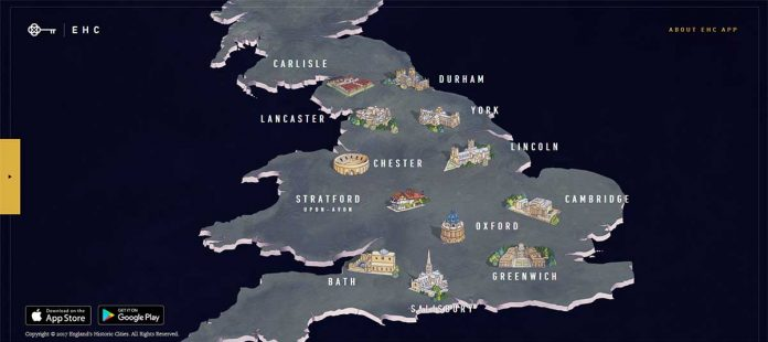england's historic cities app