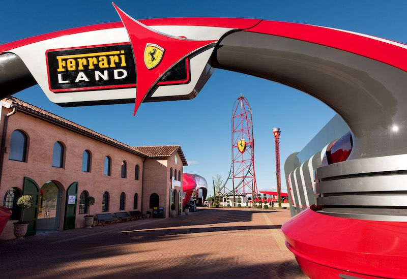 ferrari land entrance