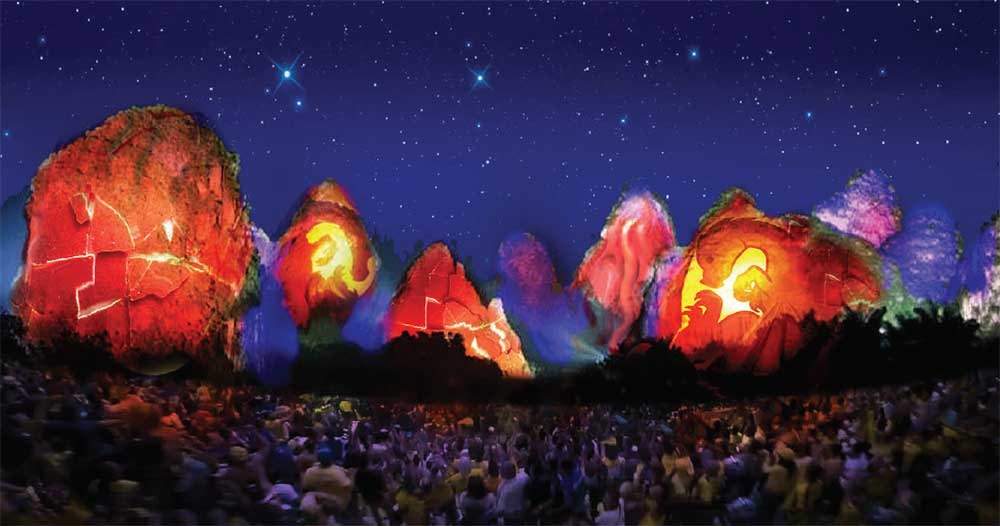 IDEATTACK Yangshuo Resorts World Millennium Show projection mapping