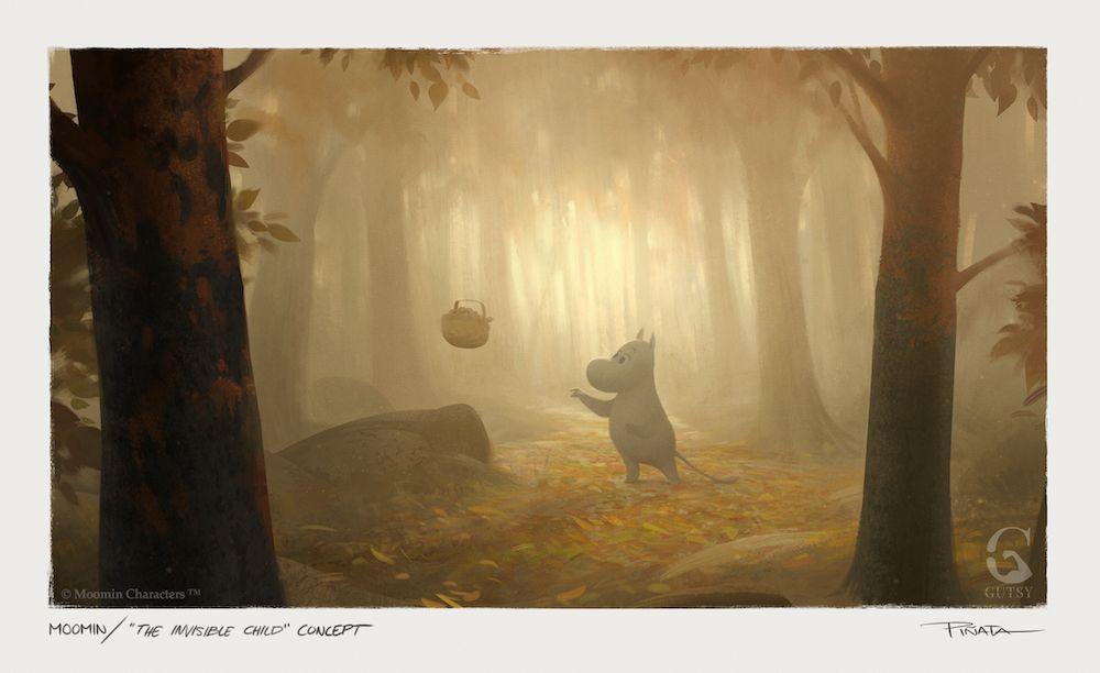 moomin the invisible child concept art