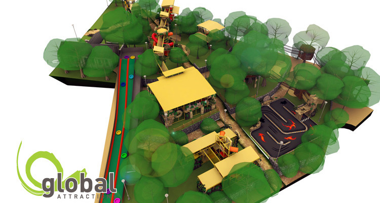 Outdoor Play Aerial View Global Attractions