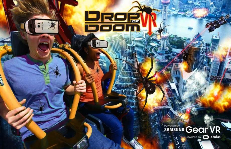Six Flags VR Tower Ride Drop of Doom La Ronde