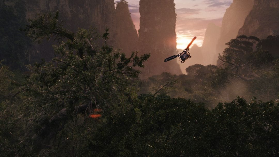 avatar lightstorm helicopter sunset