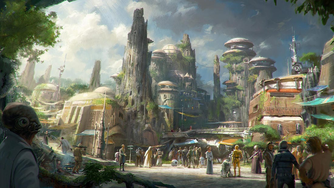 disney parks Star Wars themed lands