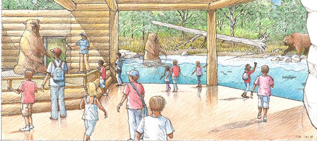 brown bear canyon great plains zoo