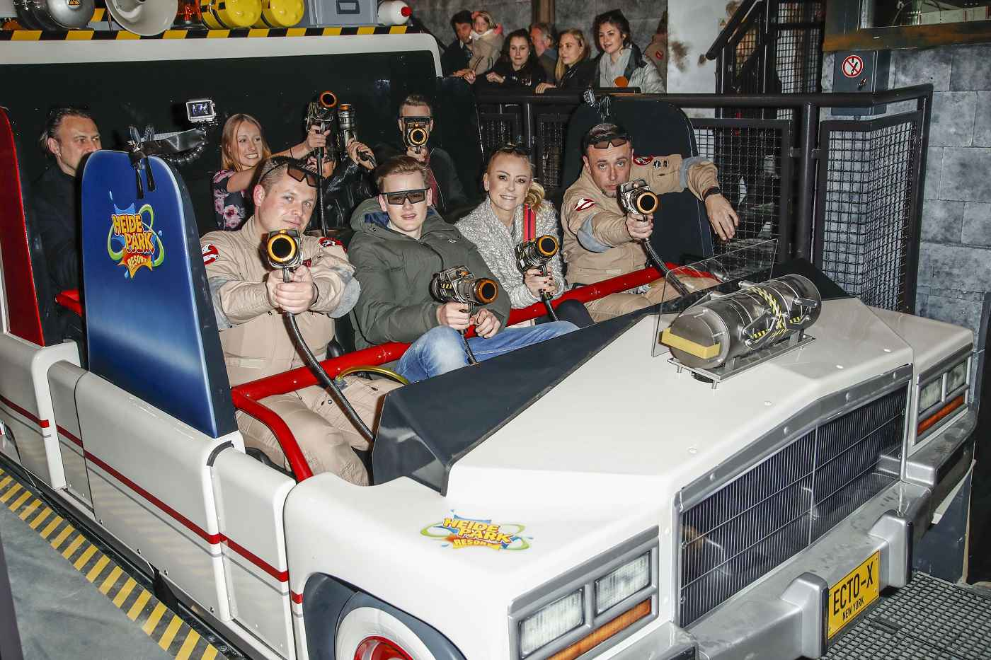 Triotech celebrates VIP opening of Ghostbusters 5D ride at Heide Park
