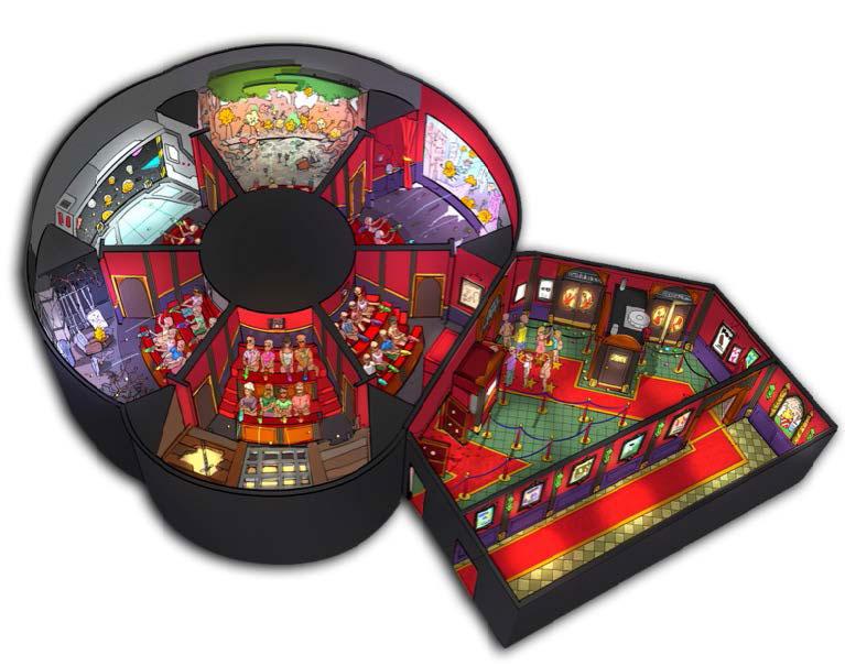 Spinning Interactive Dark Ride - Popcorn Revenge