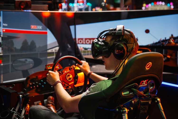 cxc vr simulators Andretti Karting