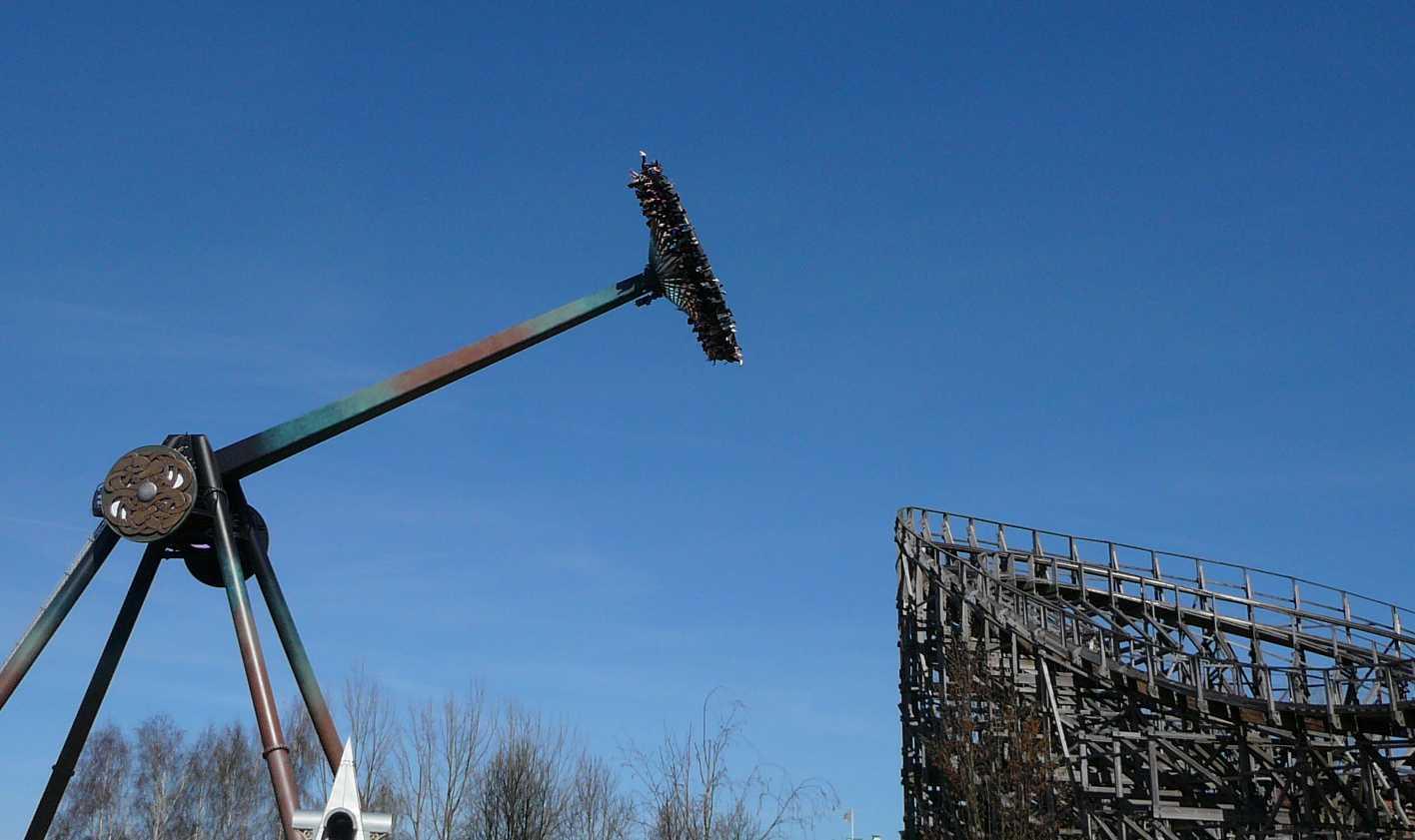 Intamin gyro swing loke wooden coaster balder