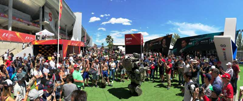 Titan the Robot takes the fun up a gear at Formula 1 Spanish Grand Prix