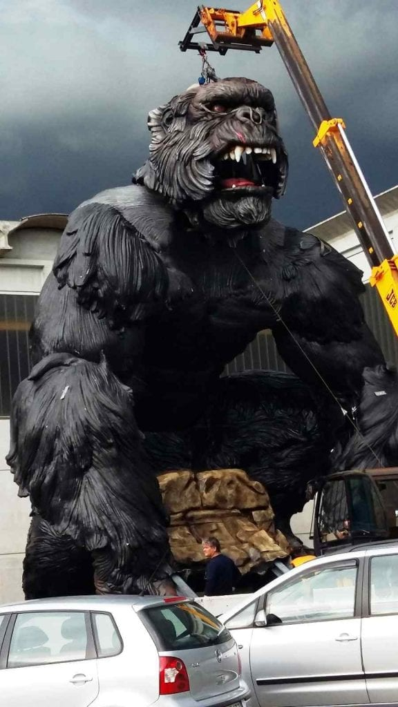 King Kong : EOS Rides unveils world's biggest ever animatronic figure