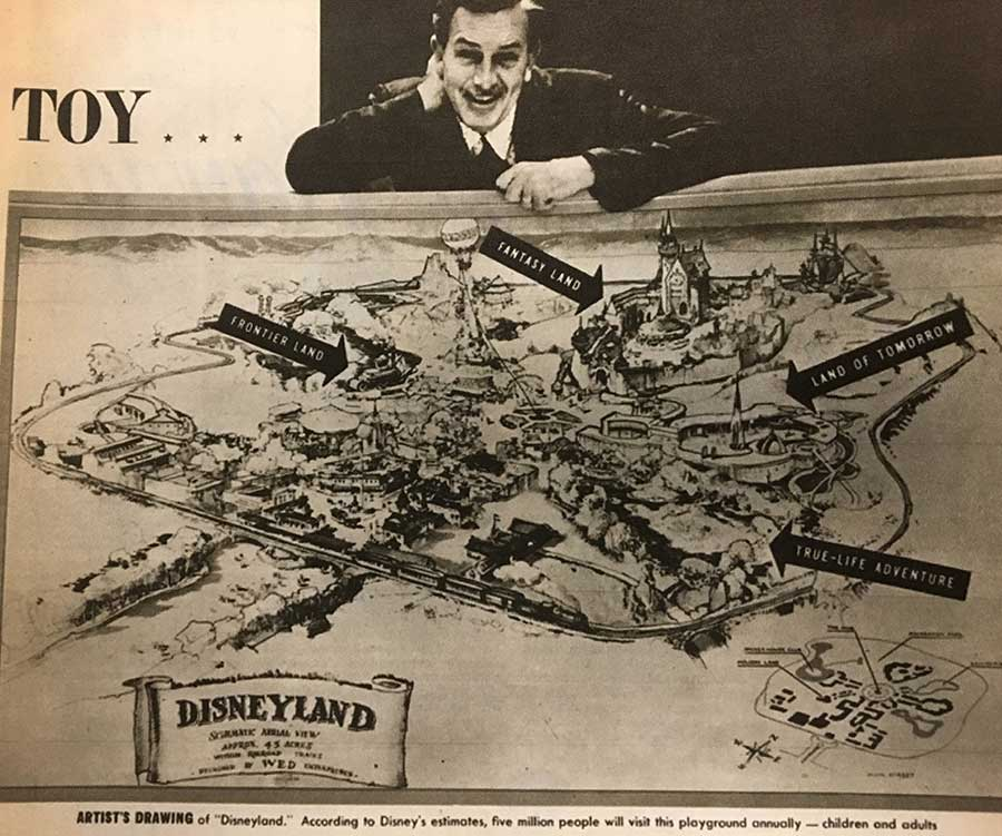 May The 4th Be With You Disneyland 2019: Rediscovered Original Disneyland Concept Map Predicted To