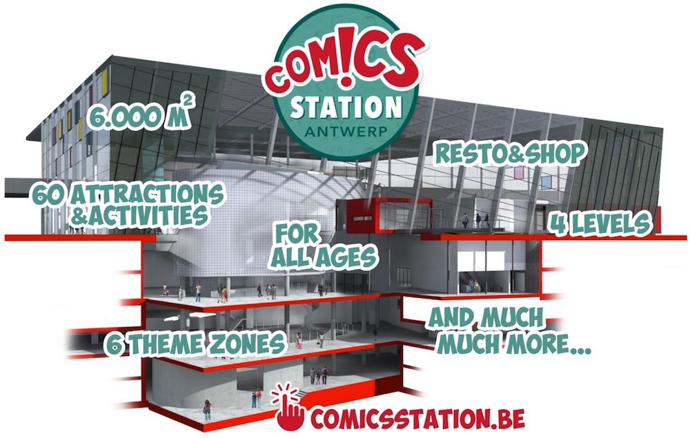 plan of 4 flooors at comics station antwerp