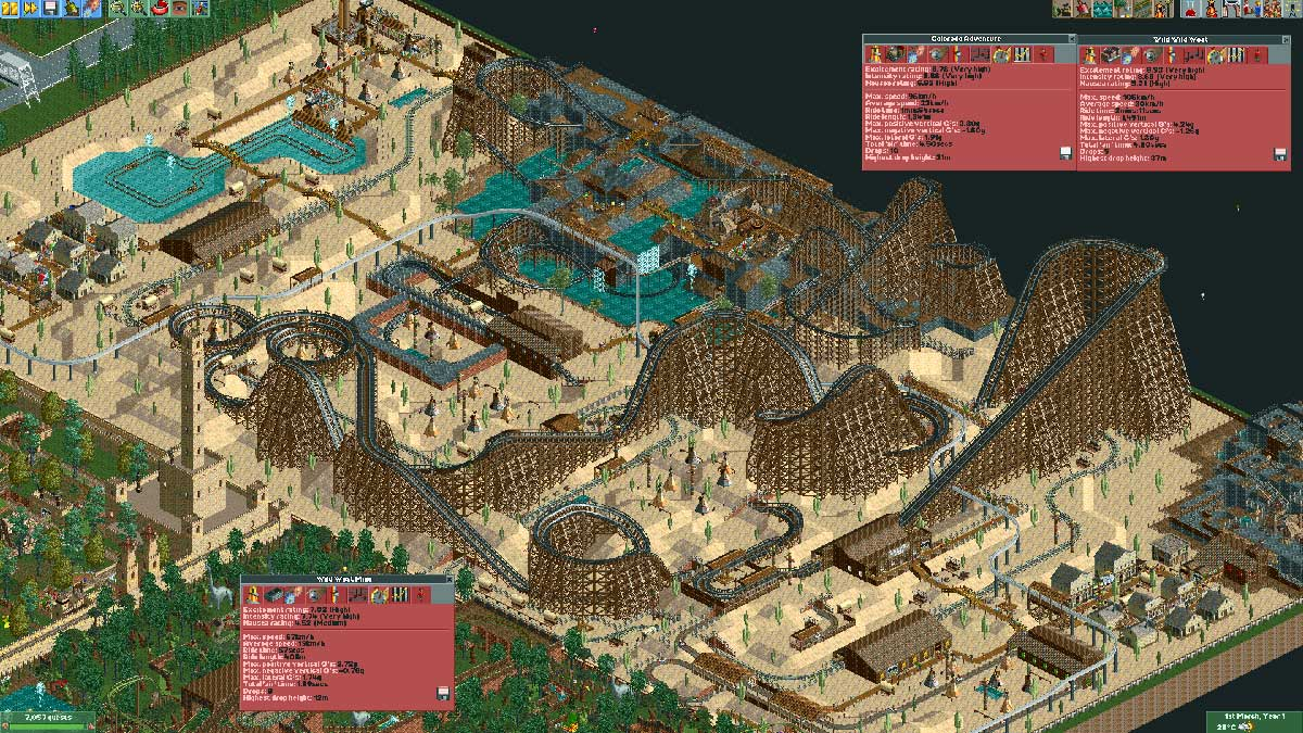Gamer spends ten years perfecting Rollercoaster Tycoon theme