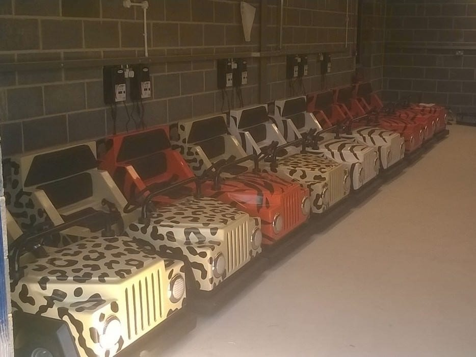 The full range of cars for Sundown on charge overnight, ready for a full days work