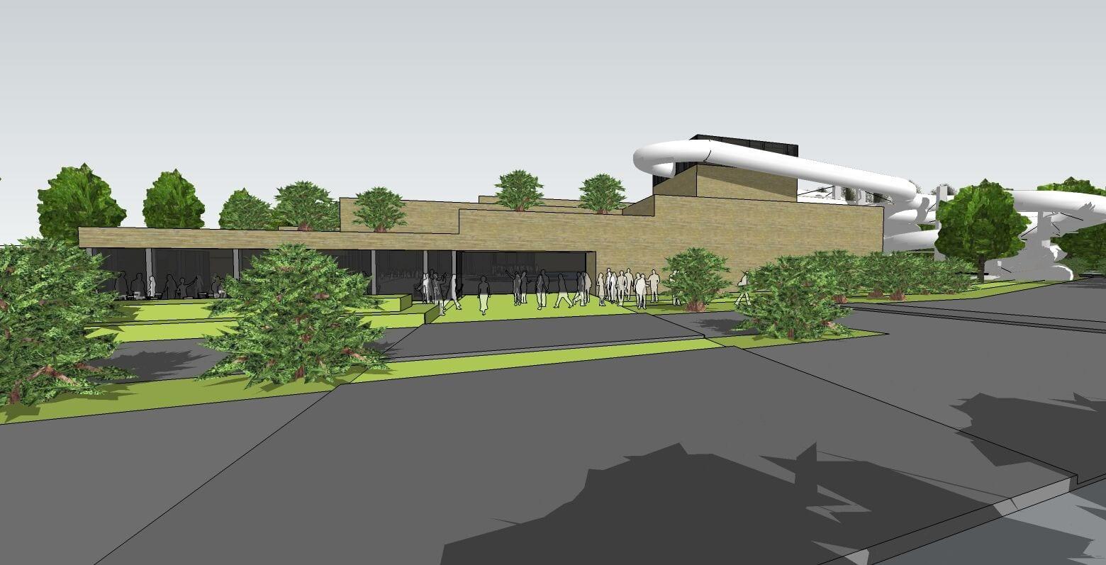 Bellewaerde Aquapark concepttekening waterpark