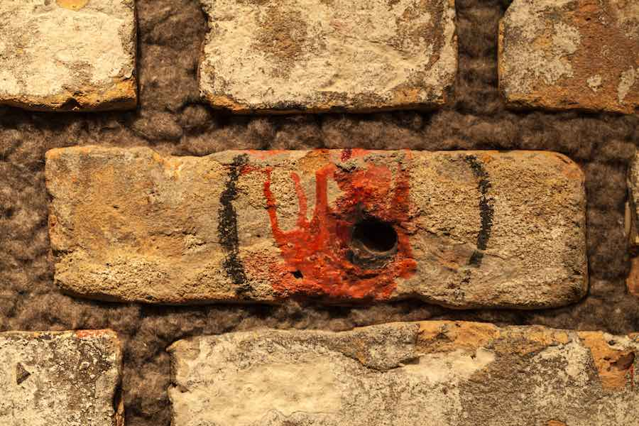 Bullet holes in the St. Valentine's Day Massacre Wall