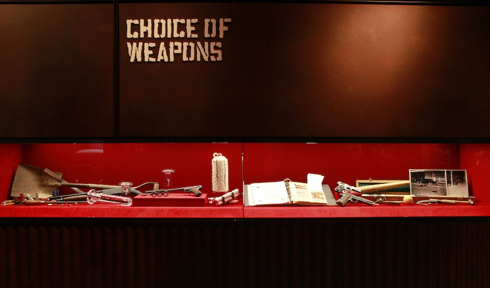 choice of weapons at mob museum
