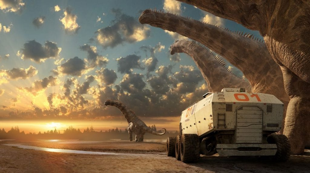 Mosasaur Prognathodon Greenwich Peninsula dinosaurs in the wild