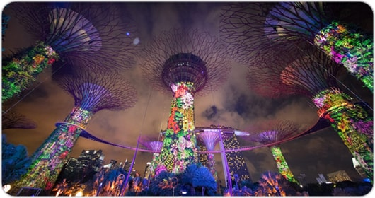 Christie illuminates Gardens of the Bay projection mapping spectacular, Singapore