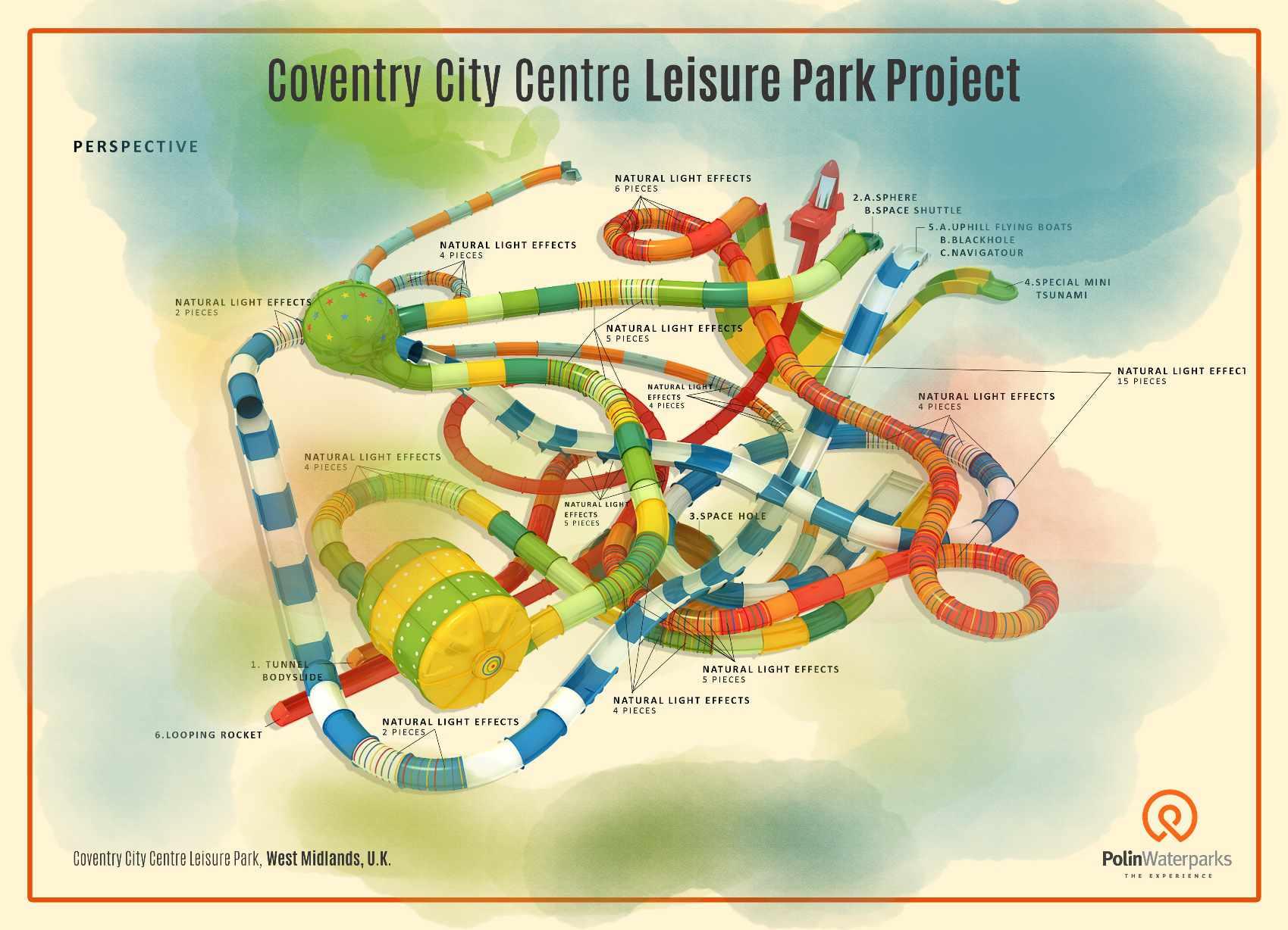 Minimum space, maximum fun: Polin creates custom waterslides for Coventry's compact new leisure centre