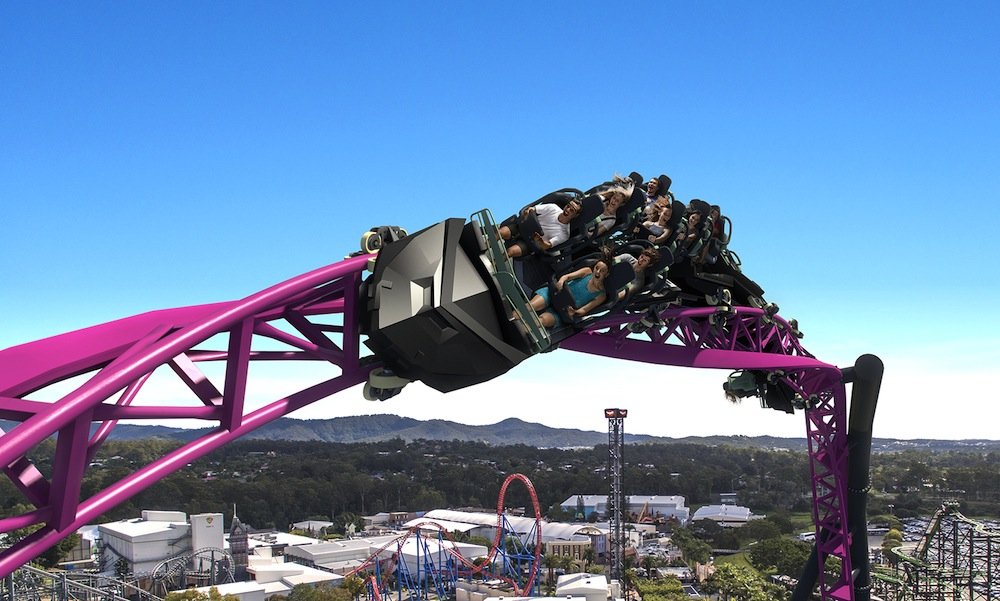 Dc Rivals Hyper Coaster To Open At Australias Warner Bros Movie World